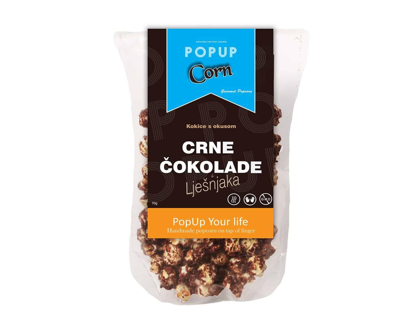 PopUp Corn crna čokolada 70g